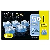 Braun Clean&Charge Cartucce di Ricarica CCR, Confezione da 5+1 Ricambi