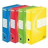 Esselte - Raccoglitori per archiviazione, colori assortiti Set da 10 Dorso 80 mm Assorti (3 x bleu, 2 x rouge, 2 x jaune, 3 x vert)