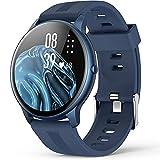 AGPTEK Smartwatch Uomo Fitness Impermeabile IP68 Sport, Cardiofrequenzimetro da Polso Uomo con Touchscreen 1.3', Smart Watch Sportivi Controllo Musica Cronometro Contapassi (Blu)