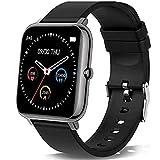 Smartwatch, Orologio Fitness Uomo Donna,Smart Watch con Contapassi Saturimetro (SpO2) Misuratore Pressione/Sonno Cardiofrequenzimetro da Polso, Fitness Tracker Sport Impermeabile IP68 per Android iOS