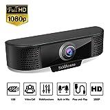 Webcam per PC USB 1080P, USB Webcam SriHome SH037, Webcam Full HD con Microfono per Videochiamate Videoconferenza, Compatibile con Skype, FaceTime, Hangouts, Windows 7/8/10/32-bit Vista, Plug and Play