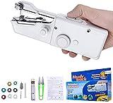 Charminer Mini macchina da cucire, mini macchina da cucire elettrica portatile, portatile, veloce e maneggevole, adatta per vestiti, tende, fai da te, uso in casa e in viaggio