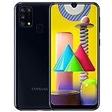Samsung Galaxy M31, Smartphone, Display 6.4' Super AMOLED, 4 Fotocamere Posteriori, 64GB Espandibili, RAM 6GB, Batteria 6000 mAh, 4G, Dual Sim, Android 10, [Versione Italiana], Nero, Esclusiva Amazon