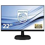 Philips Monitor 223V5LHSB2 Monitor LCD-TFT per PC Desktop 21,5' LED, Full HD, 1920 x 1080, 5 ms, HDMI, VGA, Attacco VESA, Nero