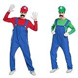 Super Mario Brothers Mario e Luigi set cappello Costume adulto con barba posticcia (japan import)