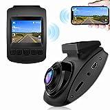 【2021 Nuova Versione】CHORTAU Telecamera per Auto WiFi Full HD 1080P, Dashcam Schermo da 2 pollici 170 ° Grandangolo, Videocamera per auto con Monitor di Parcheggio