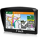 POMILE Navigatore Satellitare Auto per Camion, 7 pollici GPS per Auto Camion Aggiornamento gratuito Mappa 8 GB ROM + 256 MB RAM Schermo capacitivo GPS ad alta luminosità per 58 paesi mappa