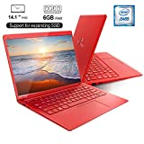 Notebook PC Portatile Nuovo in Offerta 14.1'' FHD APOLLO LAKE J3455 6GB RAM LapTop DUODUOGO X20, Portatile Windows 10 Intel 8000mAh 128GB ROM/TFcard da 128 GB scalabile o SSD SATA (14.1'', Rosso)