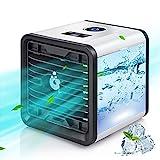 Condizionatore D'aria Portatile, ENDIN Air Cooler Refrigeratore d'aria 5 in 1, Umidificatore Purificatore Diffusore di Aromi USB con 3 Velocità e 7 Colori, Adatto per l'Home Office