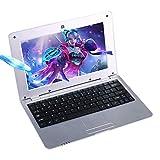 FANCY CHERRY HD 10 inch Mini Laptop Notebook Netbook Tablet Computer 1G DDR3 4GB di memoria VIA WM8880 CPU Dual Core Android Schermo Wifi Camera Keyboard USB HDMI (Argento 8 GB)