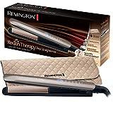 Remington S8590 Keratin Therapy Pro Piastra per Capelli, Rivestimento Ceramica e Cheratina, 160° - 230°, Marrone dorato