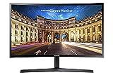 Samsung Monitor C24F396 Curvo da 24', Pannello VA, Full HD 1,920 x 1,080 Pixel, 4 ms, Freesync, 1 HDMI Port, 1 D-Sub Port, Game Mode, Flicker Free, Eye Saver Mode, Nero, Versione 2021