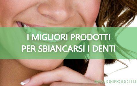 i migliori prodotti per sbiancarsi i denti